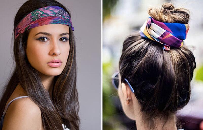 Buộc khăn Bandana trên đầu