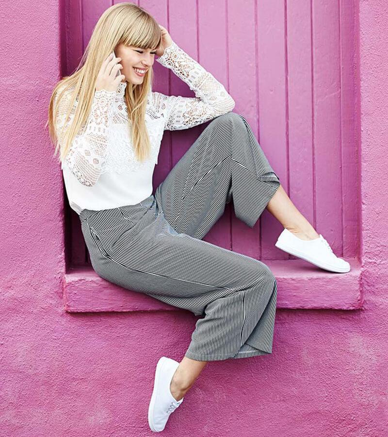 Mách bạn gái 20 công thức mặc đẹp với quần culottes