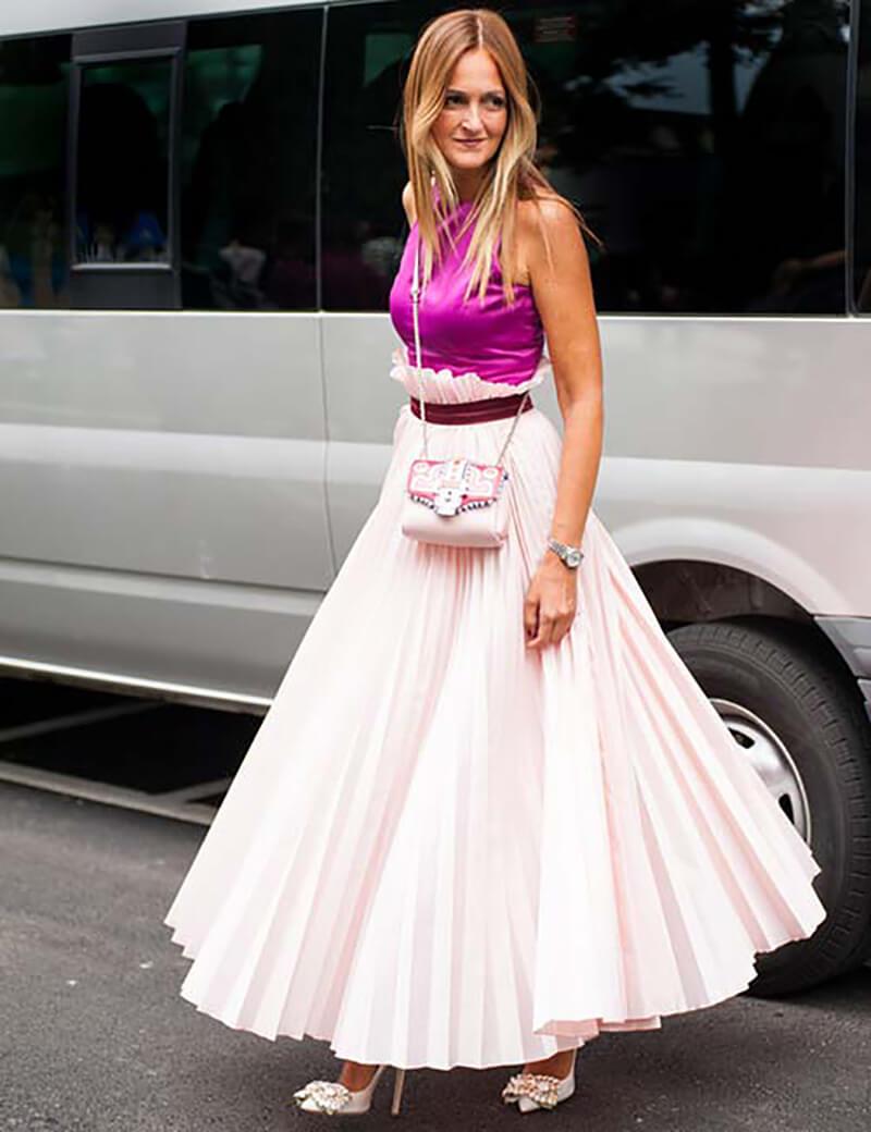 Váy xếp ly công chúa