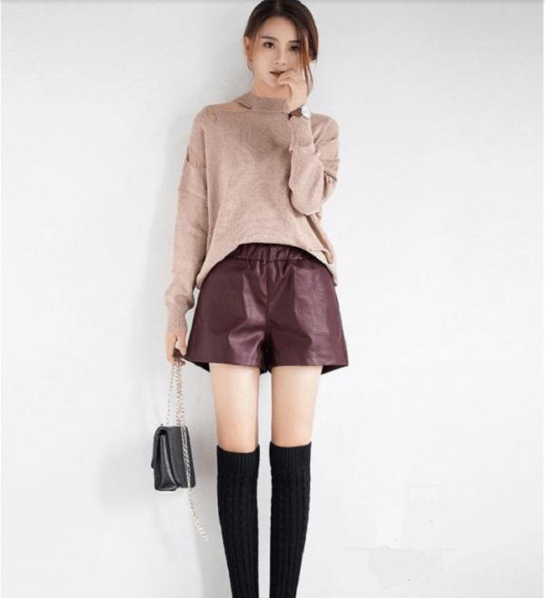 Áo len + quần short