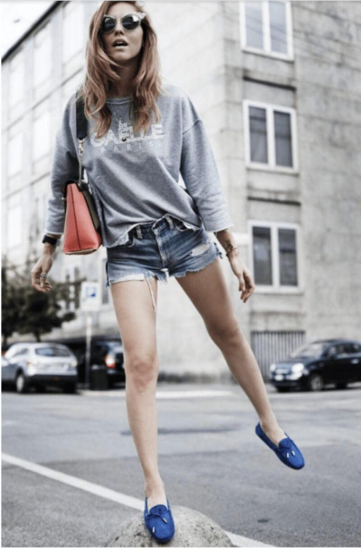 Áo thun + quần short + giày lười