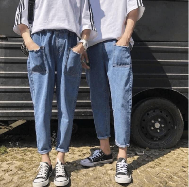 Áo thun kết hợp quần baggy cạp chun