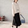 Chân váy xòe dài phối với áo hoodie