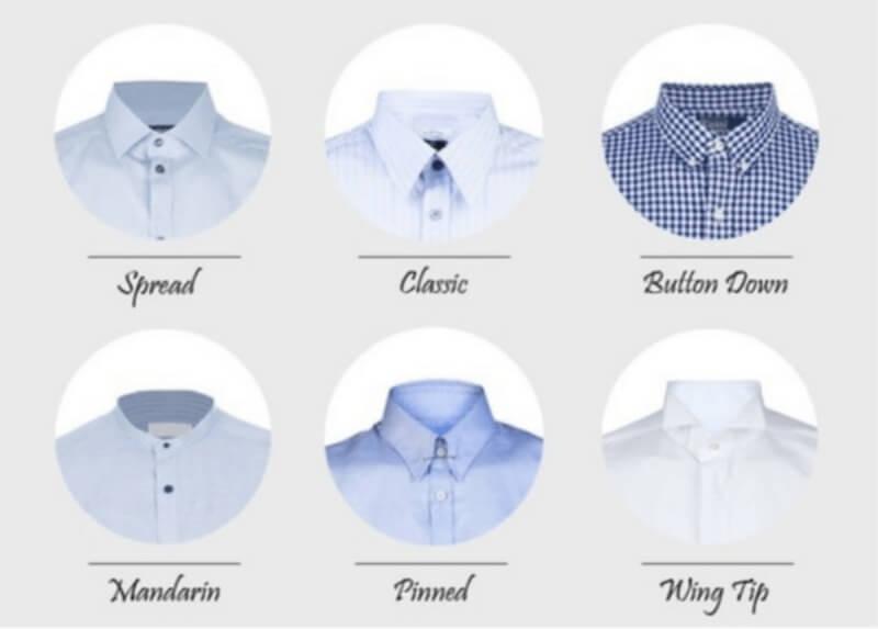 Lựa chọn những chiếc áo sơ mi có cổ áo phù hợp