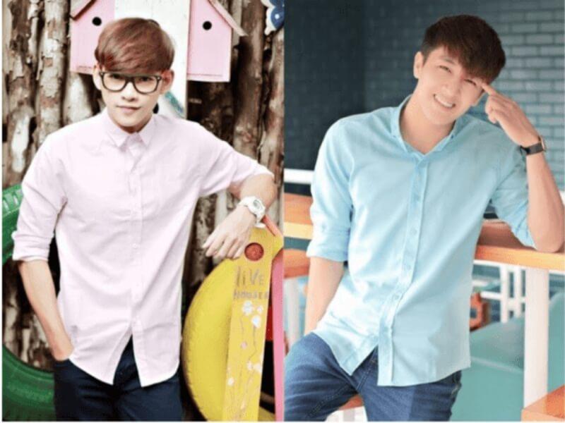Những chàng gầy hãy lựa chọn những chiếc áo sơ mi với gam màu sáng