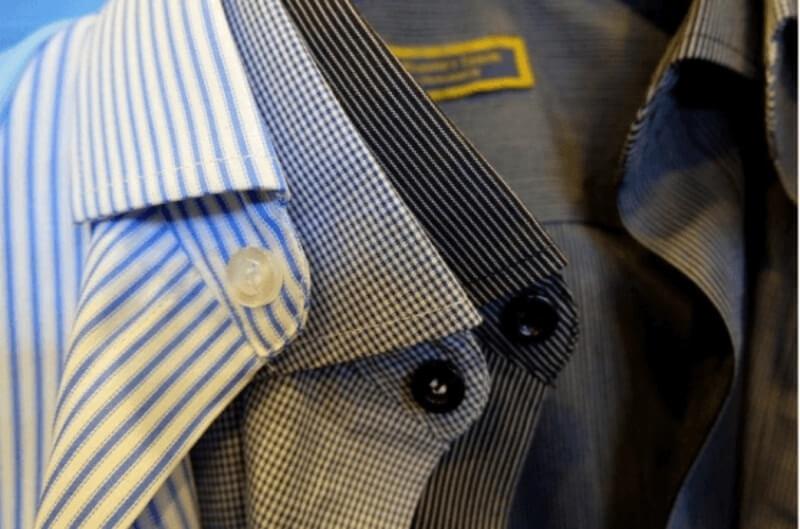 Vải may áo sơ mi nam nên thoáng mát và có form đứng