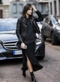 Cách phối đồ với áo da đẹp như một fashionista